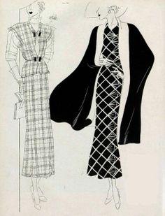 Fashion illustration, 1935.