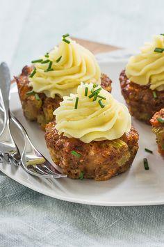 Mini gehaktbroodjes met aardappeltoef (meatloaf muffins) - Leuke recepten !