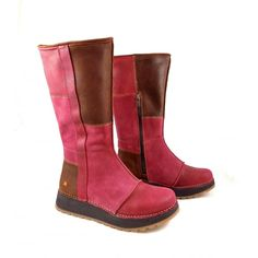 Art Company Heathrow 1025 Low Wedge Boots in Rioja | rubyshoesday