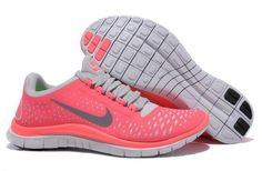UT816kn Nike Free Run 3.0 V4 Femme Chaussures De Sport Punch Chaud Reflectiv Argenté Blanc - EUR 61.5