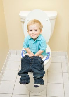 Great tips for potty training little boys.