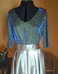 ivettetextil / Lurexove tričko pre moletku Barbie, Two Piece Skirt Set, Formal Dresses, Skirts, Fashion, Dresses For Formal, Moda, Formal Gowns, Skirt