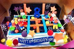 A trampoline cake!  What sweet FUN!
