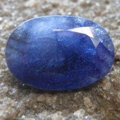 Safir Oval Biru Pekat 4.50 carat