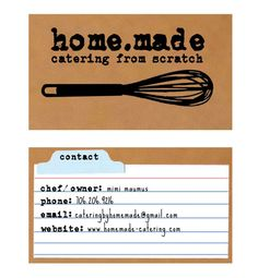 Whisk business card baker or catering chef business card catering fresh food business card inspiration reheart Choice Image