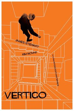 Vertigo by Alfred Hitchcock.Vertigo by Alfred Hitchcock.Vertigo by Alfred Hitchcock. Play Poster, Movie Poster Art, Poster S, Vintage Movies, Vintage Posters, Vertigo Movie, Tv Movie, Illustration Photo, Book Lists