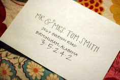 I like this calligraphy for our invitations. Super cute