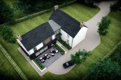 PLease take time to check out this replacement dwelling. This bespoke L-shaped dwelling design is a traditional rural farmstead in a secluded rural setting. Farmhouse Renovation, Modern Farmhouse Exterior, Farmhouse Design, Interior Design Northern Ireland, L Shaped House Plans, House Designs Ireland, Cottage Extension, Long House, Bungalow House Design