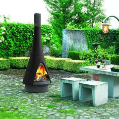 Outdoor Fireplace from Robeys - the Harry Leenders' Pharos - Bringing the Indoors Out
