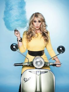 You can't ride and eat cotton candy on a Vespa.
