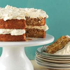 Sourdough carrot cake with cream cheese frosting by King Arthur