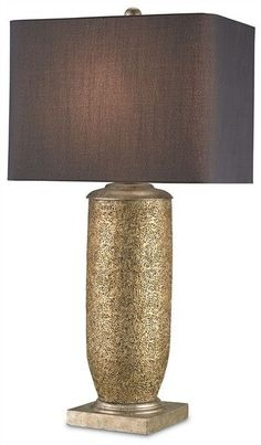 FREE SHIPPING IN THE US. USE CODE LOVE10OFF FOR 10% OFF YOUR ENTIRE PURCHASE.  2 IN STOCK. LAST 2 ON THE INTERNET!  This is a beautiful terracotta lamp in Gold Leaf and Antique Silver Leaf finishing. The Gladwyne Table Lamp can be used in traditional as well as transitional settings. A Black Shantung shade completes the look.  Product Name: Gladwyne Table Lamp Stock Status: 2 in stock Dimensions: 34h Shades: Black Shantung 18/11.5x18/11.5x13 Material: Terracotta/Wood Finish: Gold…