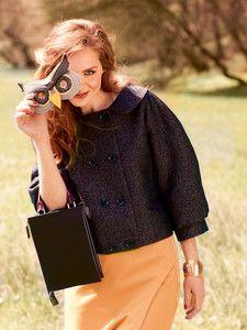 Schnittmuster: Vintage Jacke - weiter Schnitt - Vintage - Damen - burda style