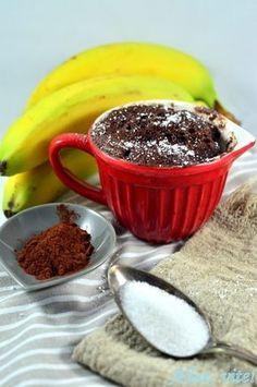 Mug cake Rezept Banane Schoko Tassenkuchen Mikrowelle Kuchen