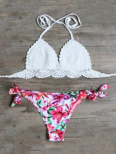 SHARE & Get it FREE | Floral Crocheted Bikini Set - WhiteFor Fashion Lovers only:80,000+ Items • New Arrivals Daily Join Zaful: Get YOUR $50 NOW!