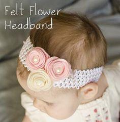 Felt Flower Headband with Template