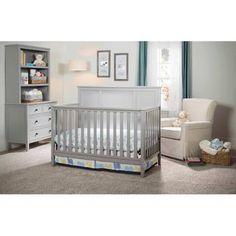 Delta Children's Epic 4-in-1 Fixed-Side Crib, Gray
