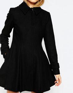 Bild 3 von ASOS – Dolly – Ausgestellter Mantel mit plissiertem Detail