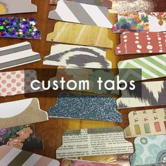 Custom Bible Tabs: this website lets you personalize what color bible tabs you want!
