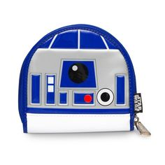"""Star Wars: R2D2 Patent Coin Bag Printed Patent Faux Leather Die Cut Coin Bag. MEASUREMENTS: W: 6"""" X H: 5.64"""""""