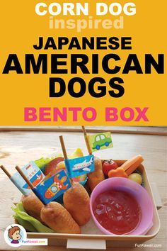 Corn Dogs inspired food, American Dogs are Japanese street food. Kids and Adults' favorite food, perfect for lunch box / party! Snacks For School Lunches, Sunday School Snacks, Healthy Lunches For Kids, Easy Snacks For Kids, Dinners For Kids, Kids Meals, Japanese Street Food, Japanese Snacks, Japanese Food