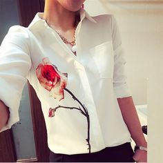 Cheap blouse chiffon, Buy Quality blouse women directly from China blouse black Suppliers: 						  				Material:Polyester  		Color:Beige		Package include:1 Top				   				  																		&