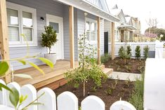 ​In week 12 of The Block Sticks and Wombat deliver a front garden to the judges. Weatherboard House, Queenslander, Outside House Colors, Facade House, House Exteriors, House Paint Exterior, Paint Colors For Home, House Front, Little Houses