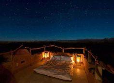 Noche en Desierto de Namibia.