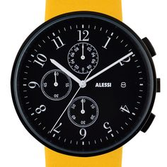 Record Chronograph watch by Alessi. Available at Dezeen Watch Store: www.dezeenwatchstore.com