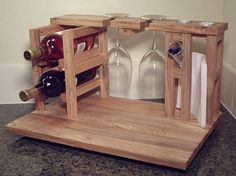 Wine and cheese party for 2 includes wine rack by HabitShmabit