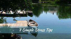 Canoe at dock - Stress Tips
