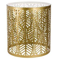 Bout de canapé en métal doré et verre | Maisons du Monde