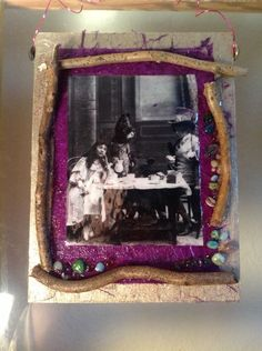 *Tea Party* Mixed Media Art Collage #Abstract