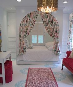 Painted floor, nice cozy bed