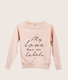 New arrivals at Fancykids.com  Discover #cool #Dutch brand: beautiful #pastel colours, #organic materials and #practical shapes!   #fancykids #kids #fashion #sweatshirt #palepink #love #baby