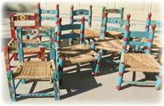 Vintage style children's mexican folk chairs - LOVE THESE!