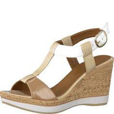 Tamaris-Schuhe-Sandalette-CREAM-COMB-Art.:1-1-28085-20/491