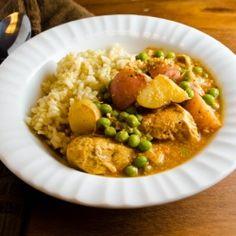 Enjoy this flavorful chicken stew with garam masala - a combo of cumin, coriander, cardamom, pepper, cinnamon, cloves, and nutmeg.