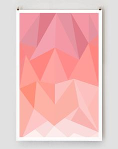 Triangles Art Print This listing is for an 11 x 17 print with a ¼ border. Printed on matte archival paper. Special formulation eliminates fading,