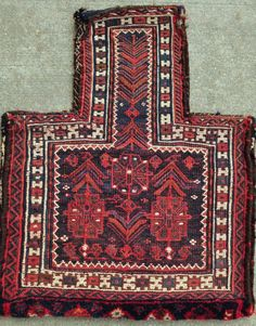 "Bakhtiari Salt bag - Nomadic Tribal bag for storing salt - 20"" x 24"" - 51 x 61 cm."