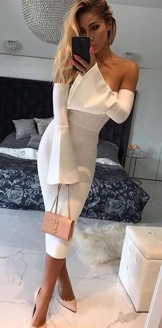 #winter #outfits off shoulder dress