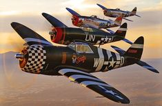 Stack of P-47s