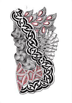 Renates Zentangle 01.10.2018 Zentangles, Tribal Tattoos, Drawings, Art, Art Background, Zentangle, Kunst, Sketches, Performing Arts