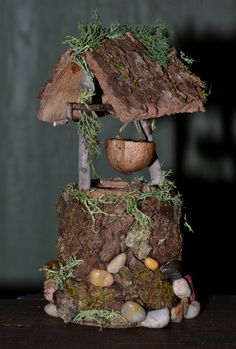 Hey, I found this really awesome Etsy listing at https://www.etsy.com/listing/225877542/fairy-wishing-well-with-miniature-bucket