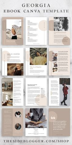 This Canva eBook template is perfect for your next eBook or info product. Use it to create a Portfolio Design, Mise En Page Portfolio, Magazine Layout Design, Book Design Layout, Magazine Layouts, Magazine Ideas, Design De Configuration, Cv Inspiration, Graphisches Design