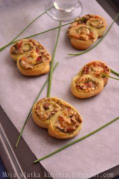 Moja slatka kuhinja: Palmiers sa pestom i šunkom