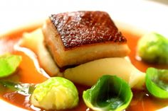 slow roast pork belly with ale sauce