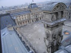 Rooftop view of the Louvre