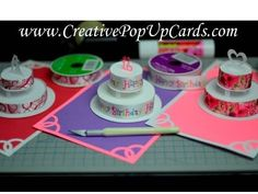 ▶ How to make a Birthday Cake or Wedding Cake Pop Up Card Tutorial: Part 2 - YouTube