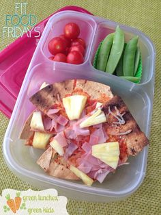 Fit Food Fridays: Healthy Hawaiian Pizza Lunch by Green Lunches, Green Kids!